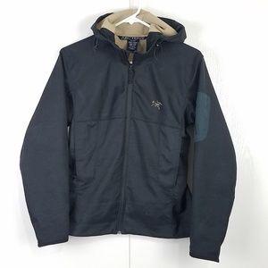 Arc'teryx black women's hooded jacket size medium